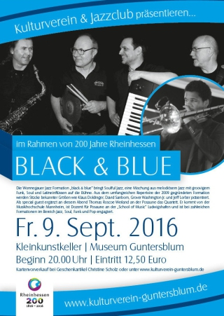 Plakat Black and Blue