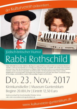 Plakat Rabbi Rothschild